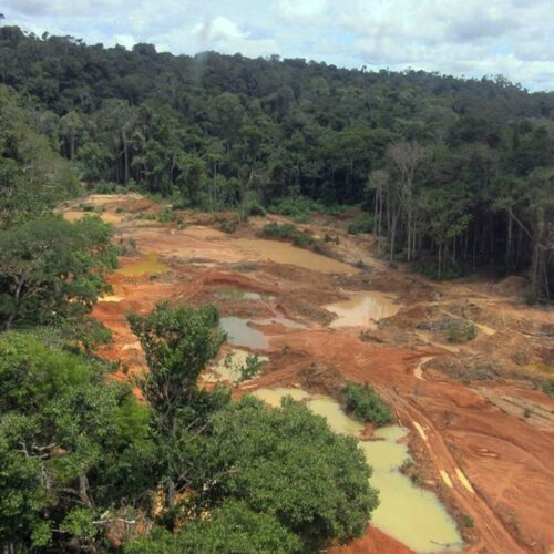 Federal Police carries out an operation against illegal diamond mining in indigenous lands